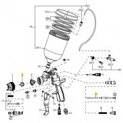 Buse + Aiguille Ø1.5 - AZ3 HTE PAS Concept Iwata