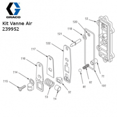 Kit Vanne Air Pompe Husky 307 (239952)Graco