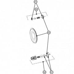 Kit joint de clapet antiretour x 4 DX70 (DXK-1) Binks