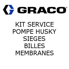 Sièges, Billes, Membranes Husky 307 - SS, PTFE, PTFE (D03311) Graco