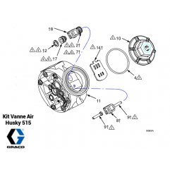Kit Vanne Air - Pompe Husky 515 (241657) Graco